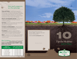 Tips for Healthier - NC Composting Council