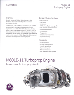 M601E-ll Turboprop Engine - Cascade Aircraft Conversions