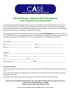 David Harper Annual Golf Tournament