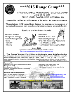 Range Camp Flier - California Pacific Section of the Society for