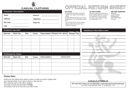 Return sheets vol.8