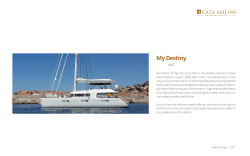 My Destiny - Cata sailing