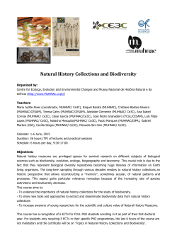 Natural History Collections and Biodiversity