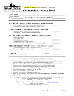 Local Church Remittance Form