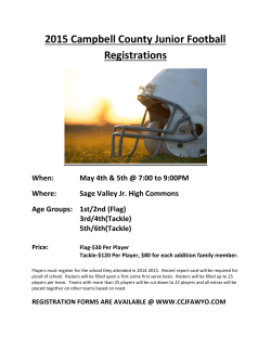 2015 Registration Flyer - youth football, Campbell County Junior