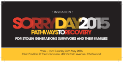 Sorry Day Event May 2015 - Community Care (Northern Beaches)