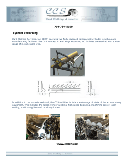 CCS Cylincer Reclothing - Card Clothing & Services