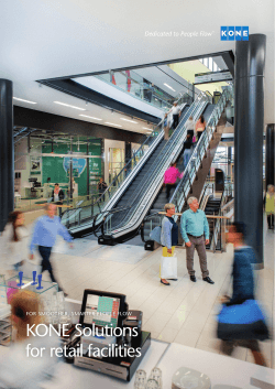 KONE Solutions for Retail Facilities Brochure