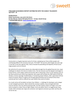 Building Britain British construction, now and in the