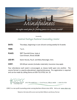 Mindfulness - Central DuPage Pastoral Counseling Center