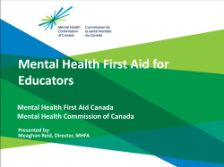 Mental Health First Aid for Educators