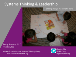!Systems!Thinking!&!Leadership!
