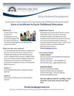 Earn a Certificate in Early Childhood Education