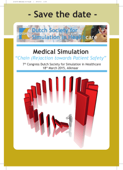 7th Congress Dutch Society for Simulation in Healthcare