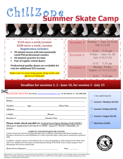 ChillZone Summer Skate Camp - Central Iowa Figure Skating Club