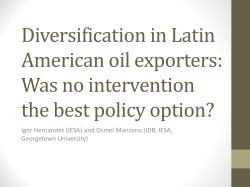 Diversification in Latin American oil exporters: Was no