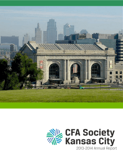 CFA Society Kansas City Annual Report 2013-2014