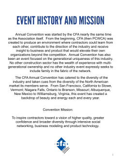 EVENT HISTORY AND MISSION - Concrete Foundation Association