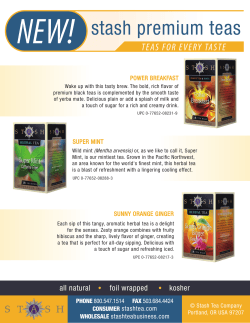 NEW! stash premium teas