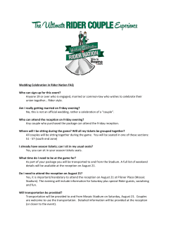 Page 1 Wedding Celebration in Rider Nation FAQ Who can sign