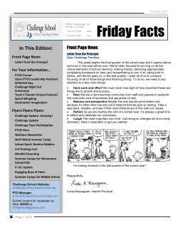 Friday Facts April 10, 2015