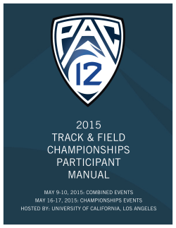 2015 Track & Field Participant Manual