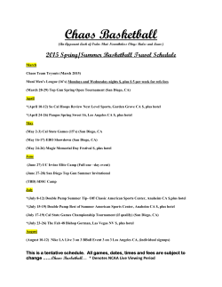 Chaos 2015 Bball Travel Schedule