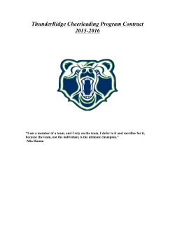 2015-2016 Season Contract - ThunderRidge High School Cheer