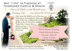 "Say ""I Do"" In Fashion at Cherokee Castle & Ranch "". . .Once in A"
