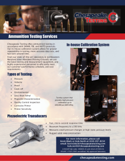 Ammunition Testing Services