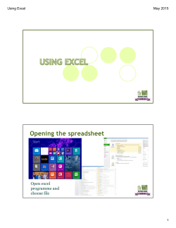 Excel Notes