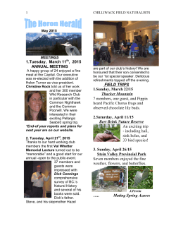 May Heron 2015.doc - Chilliwack Field Naturalists