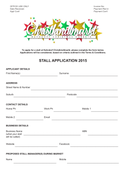 2015 Application Form - Christkindlmarkt