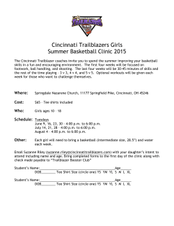 Girls` Summer Basketball Clinic Info