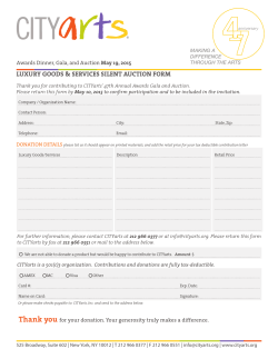 LUXURY GOODS & SERVICES SILENT AUCTION FORM