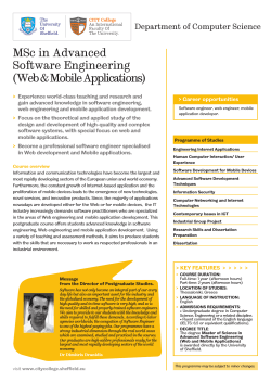 MSc in Advanced Software Engineering (Web
