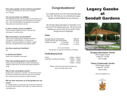 the Sendall Gardens brochure here.