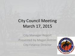 March 17, 2015 - City Of Alpine