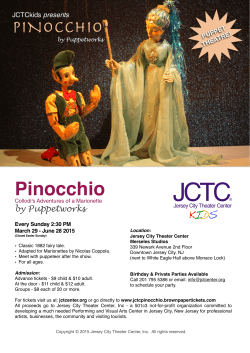 """Pinocchio"" by Puppetworks"