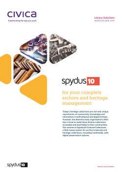 Spydus Archives & Cultural Collections