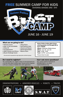 2015 KP Blast Camp_Poster - Claggett Creek Middle School