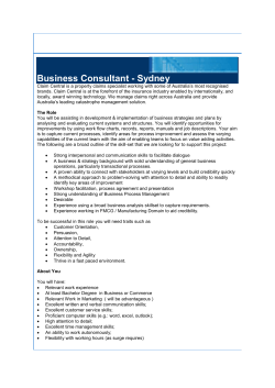 Business Consultant - Sydney