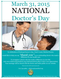 Doctor`s Day - the Clark County Medical Society