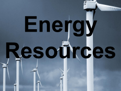 Energy Resources Teaching PPT