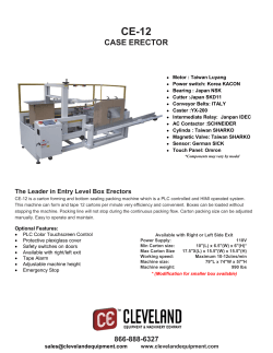 CE-12 Box Erector Product Brochure