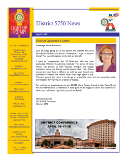 April 2015 Newsletter