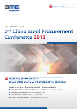 conference 2015 2nd china Steel Procurement