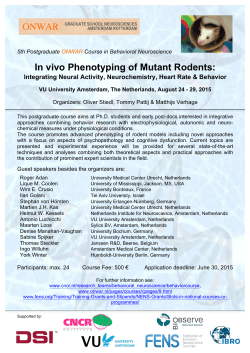 In vivo Phenotyping of Mutant Rodents: ONWAR