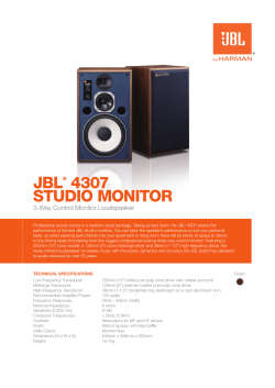Specification Sheet - Studio Monitor 4307 (English EU)