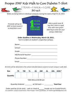 Prosper JDRF Kids Walk to Cure Diabetes T-Shirt